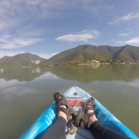 Kayak en la Presa